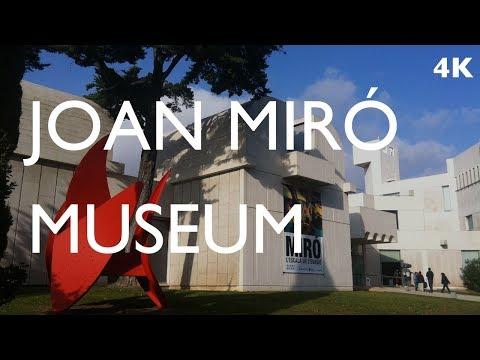 Joan Miro Museum 호안 미로 미술관 Walking Tour 4K