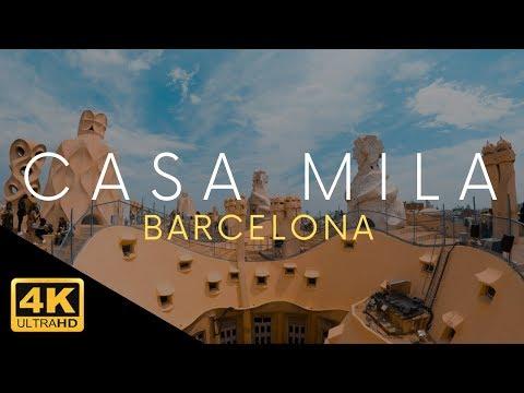 Casa Mila Barcelona Tour La Pedrera Antoni Gaudi 4k