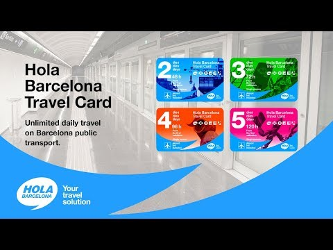 Hola Barcelona Travel Card: Unlimited journeys by metro and other public transport networks