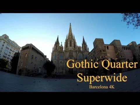 Gothic Quarter Barcelona 4K