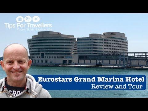 Eurostars Grand Marina Hotel Barcelona Tour and Review