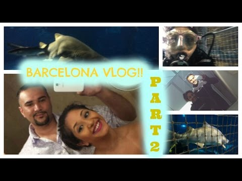CAGE DIVING with SHARKS! - BARCELONA VLOG PART 2