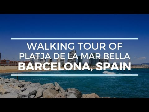 🔴[4K] PLATJA DE LA MAR BELLA BARCELONA, SPAIN WALKING TOUR (NUDEST BEACH)