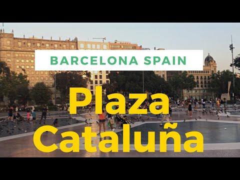 Plaza Cataluña: Main City Square of Barcelona Spain | Walking Tour