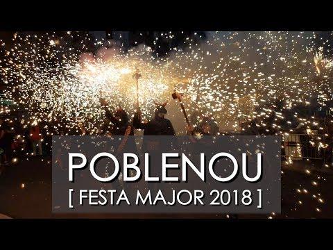 ▷ FIESTA MAYOR del POBLENOU 2018 ◁▷ BARCELONA ◁