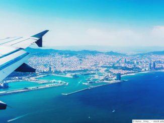Barcelona Flugzeug