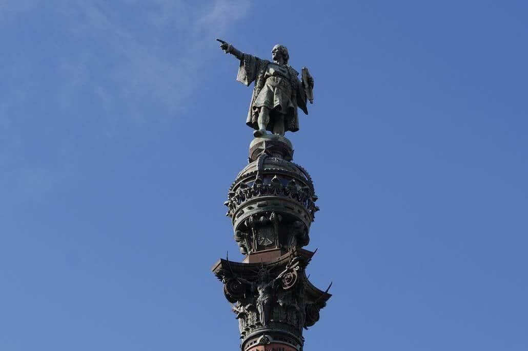 Monument a Colom Kolumbus Denkmal Barcelona