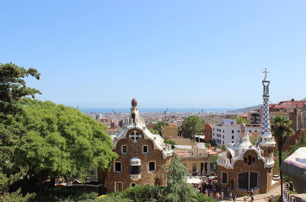 Park Güell Aussicht Panorama