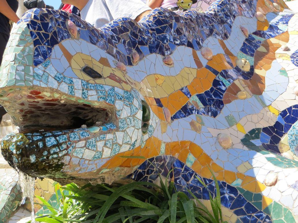 Park Güell Drache Mosaik