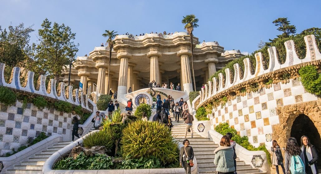 Park Güell Treppe Säulen
