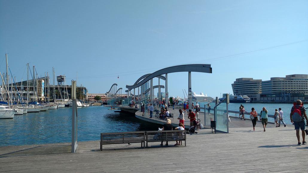 Port Vell Brücke Barcelona