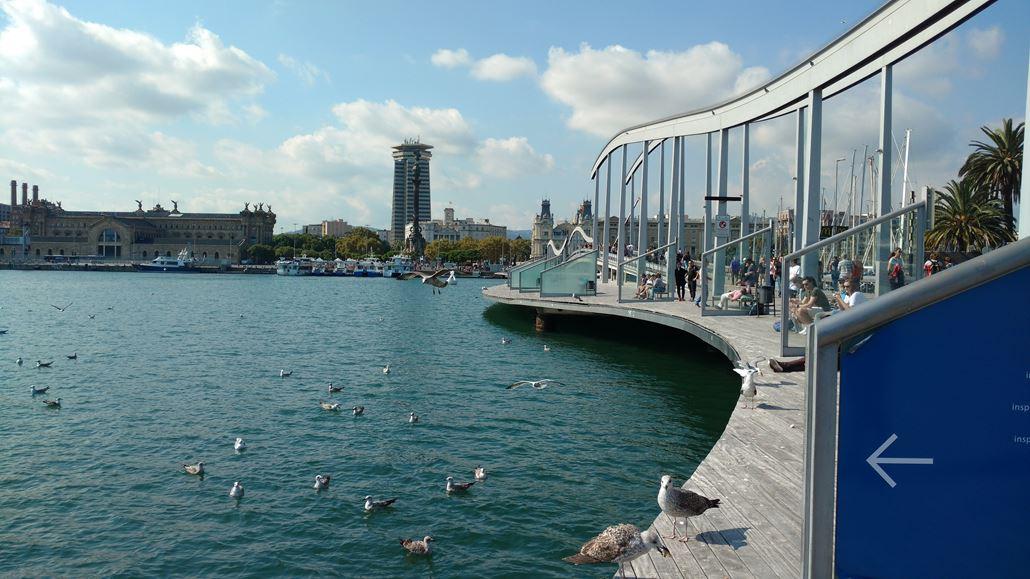 Port Vell Holzsteg Barcelona