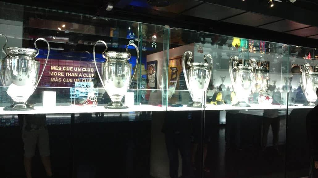 FC Barcelona Champions League Trophäen