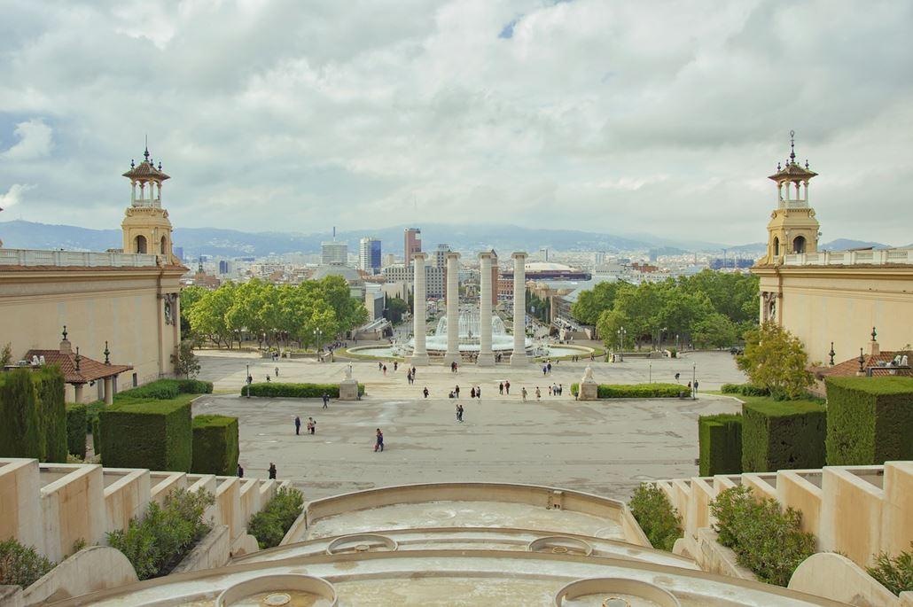 Springbrunnen Montjuic Barcelona