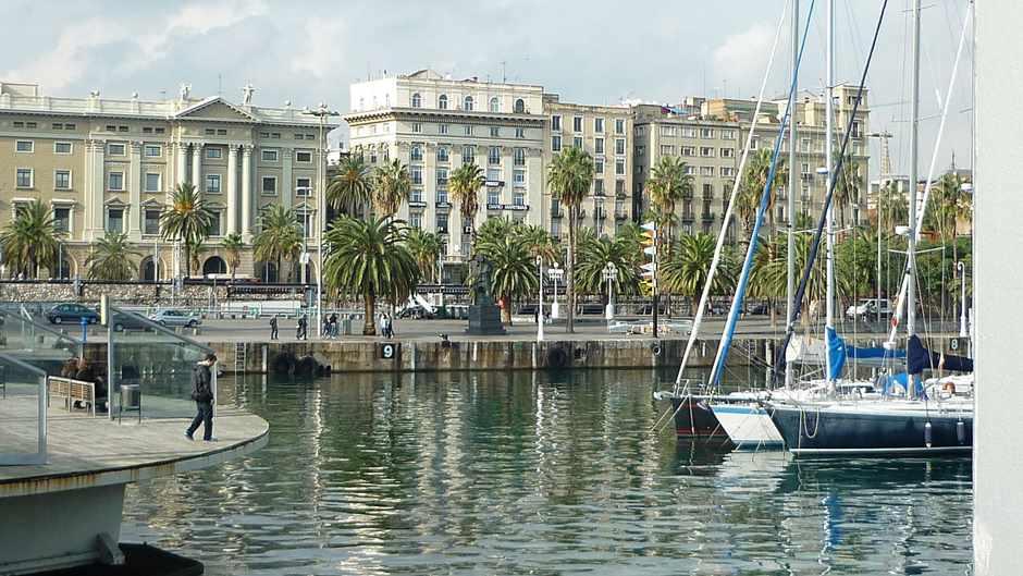 Barcelona Hafen Promenade