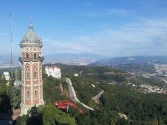 Tibidabo Berg Barcelona Aussicht