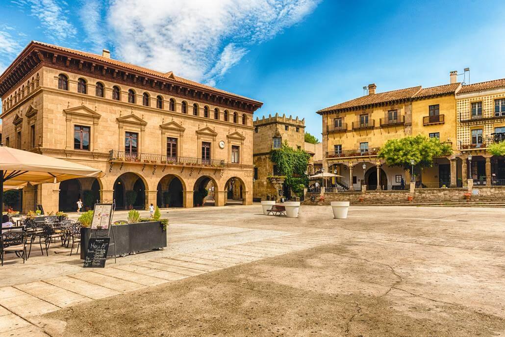 Poble Espanyol Barcelona Marktplatz