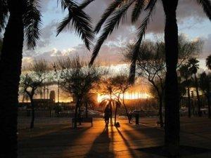 Stadtsteil Barceloneta Hafen