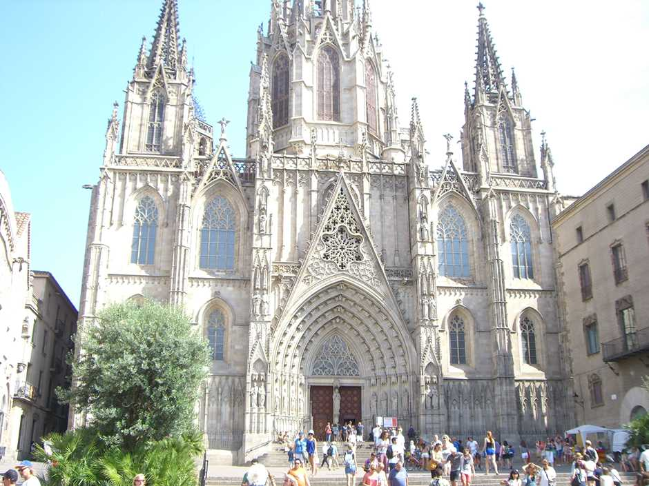 Gotische Kathedrale La Seu Barcelona