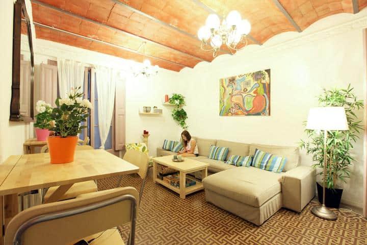 Primavera Hostel Barcelona Wohnzimmer