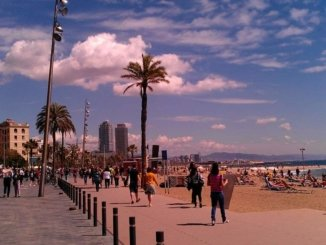 Strand in Barceloneta