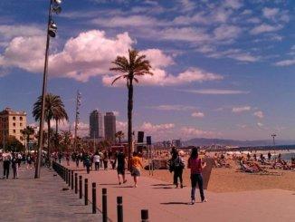 Strand in Barceloneta