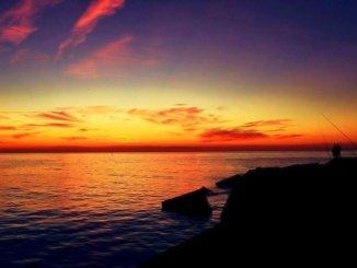 Barcelona Sonnenuntergang Strand Meer