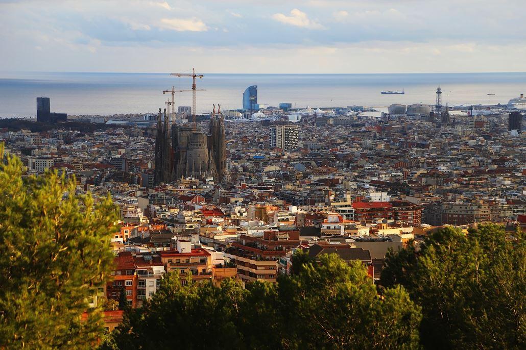 Barcelona Blick Sagrada Familia