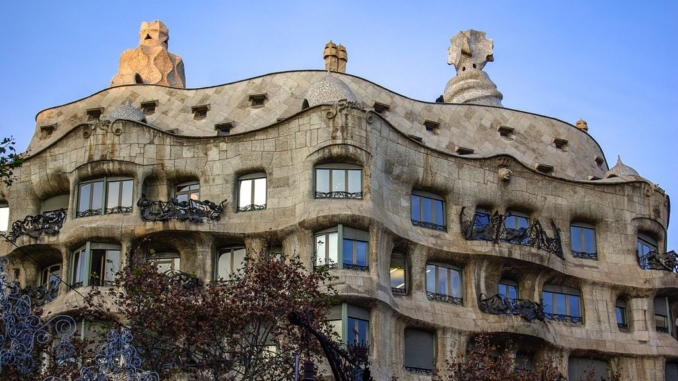 Casa Mila Barcelona Fassade