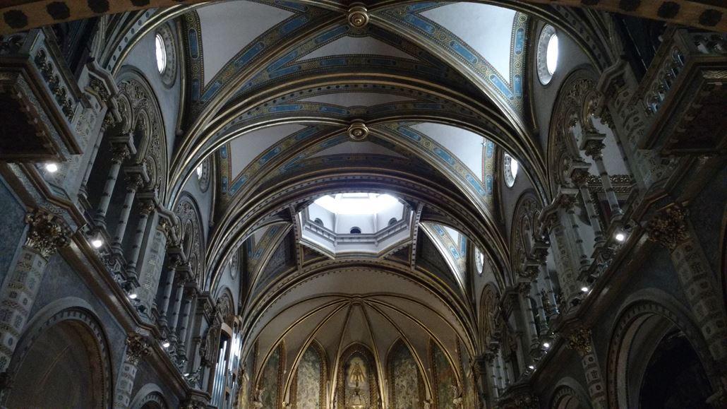 Kloster Montserrat Innen Decke