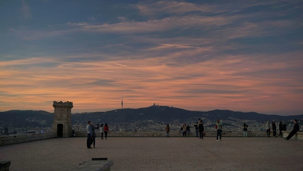 Montjuic Barcelona Aussicht