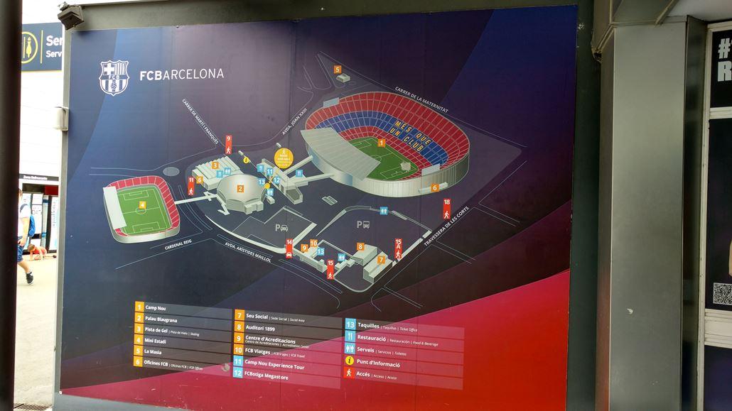 FC Barcelona Stadion Lageplan