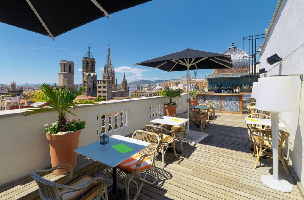 Boutique Hotel H10 Montcada Dachterrasse