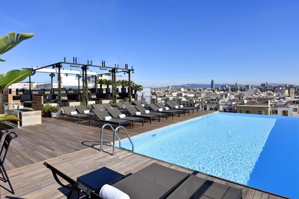 Grand Hotel Central Dachterrasse Pool