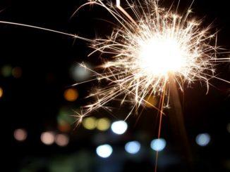Neujahr Wunderkerze