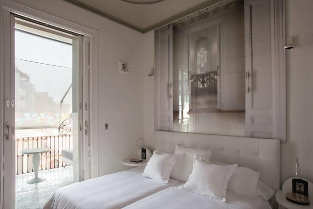El Palauet Living Barcelona Bett Schlafzimmer