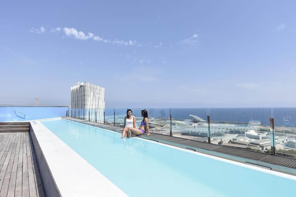Barcelona Princess Hotel Pool Dachterrasse