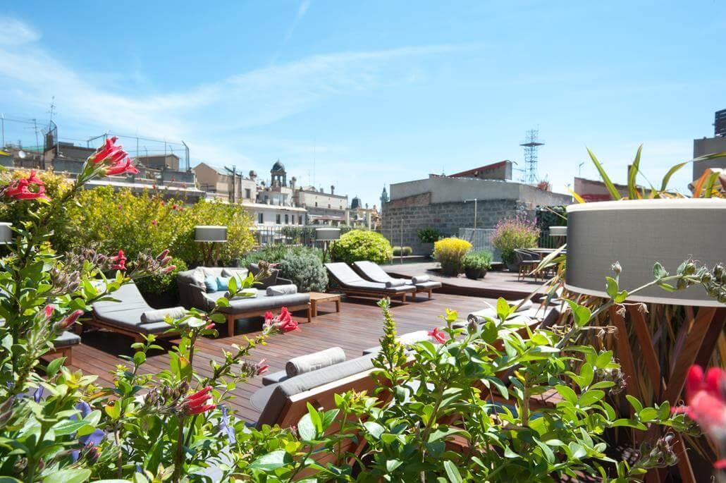 Mercer Hotel Barcelona Dachterrasse