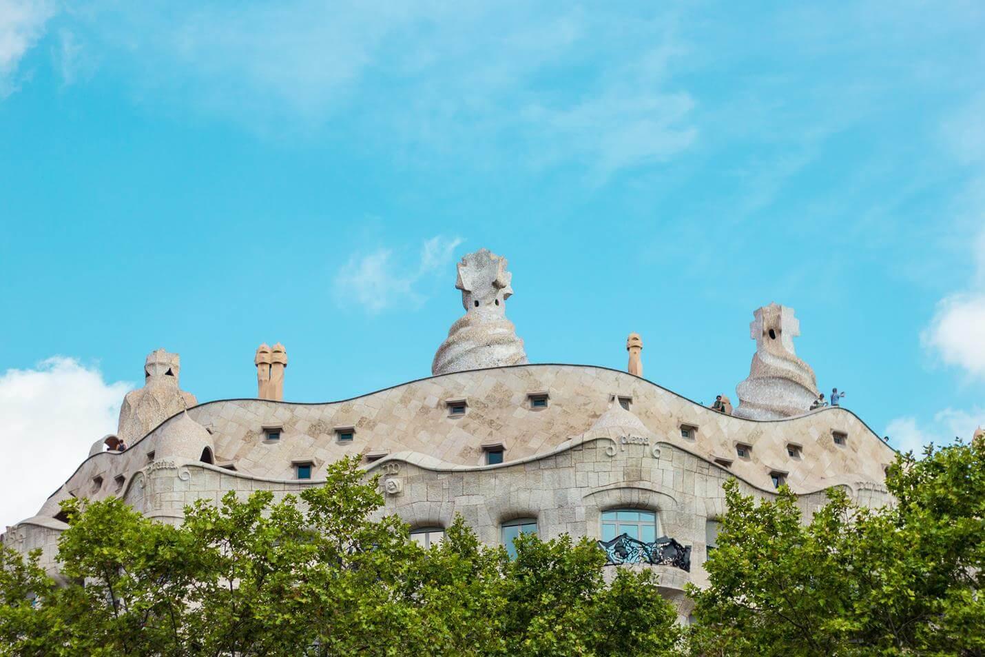 Casa Milà in Barcelona - Top