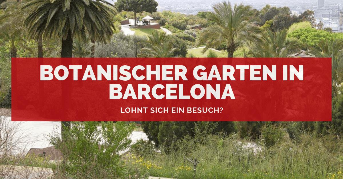 Der Botanische Garten In Barcelona Lohnt Sich Ein Besuch