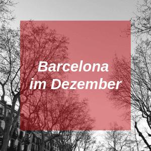 Barcelona im Dezember