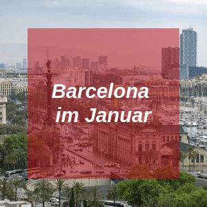 Barcelona im Januar