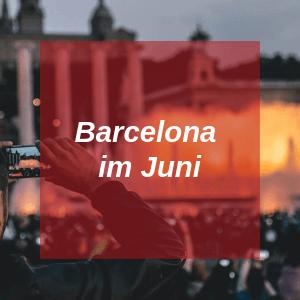 Barcelona im Juni