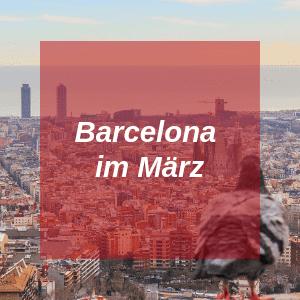 Barcelona im März