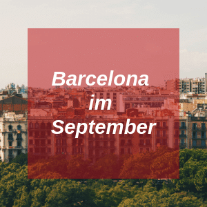 Barcelona im September