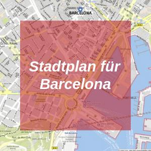 Stadtplan Barcelona