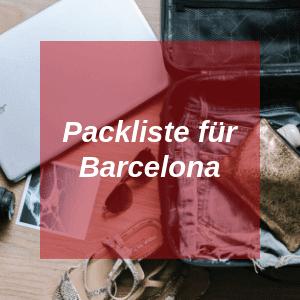 Packliste für Barcelona