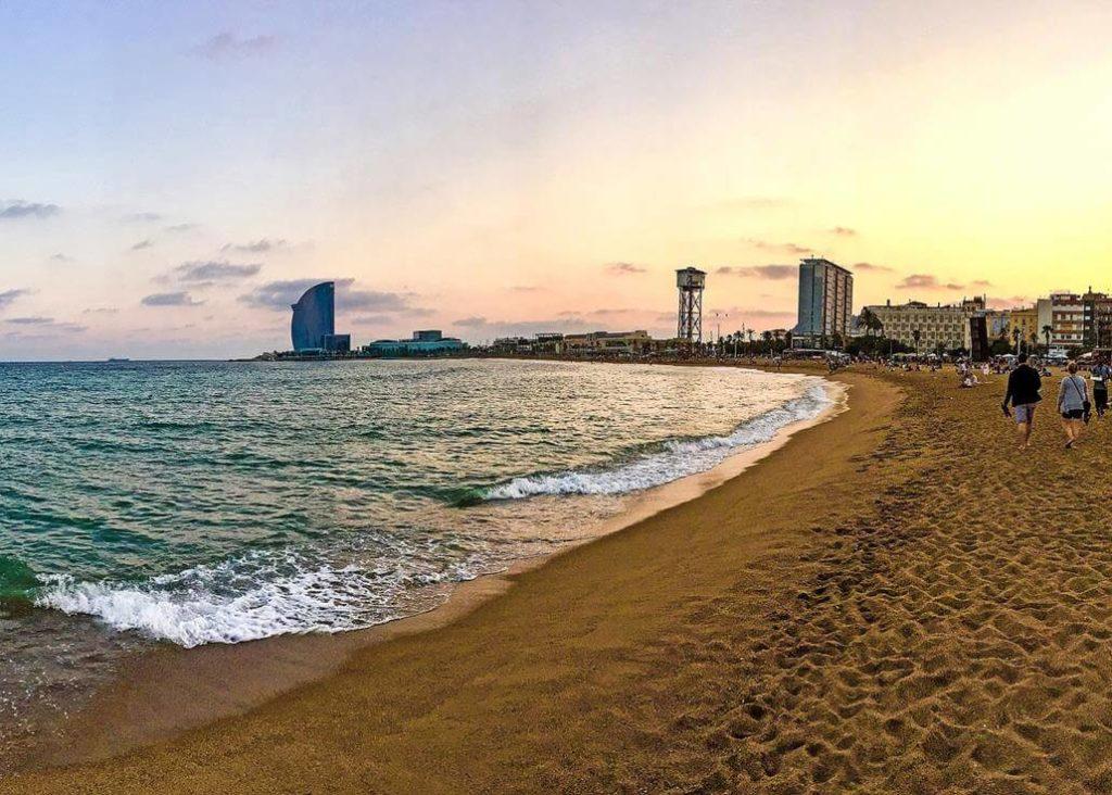 Strandspaziergang Barcelona