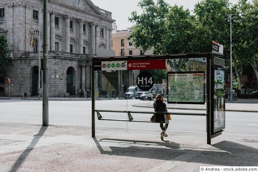 Barcelona-Bus-Haltestelle