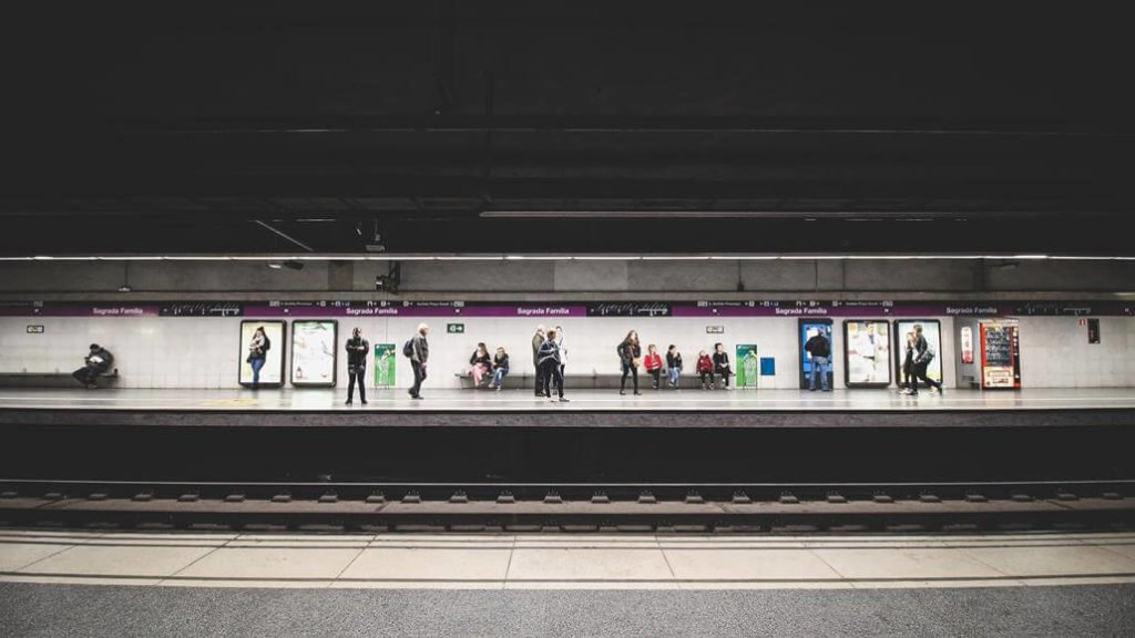 Barcelona Metro Station Sagrada Familia
